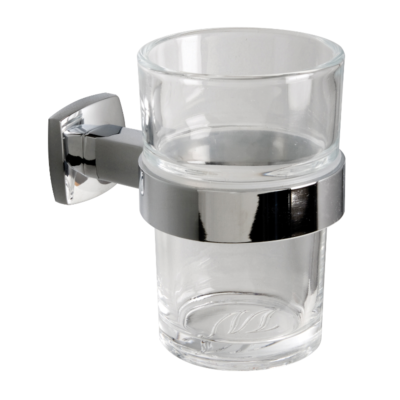 Miller Denver Tumbler & Holder Chrome 170mm x 110mm x 38mm x 37mm 6403C