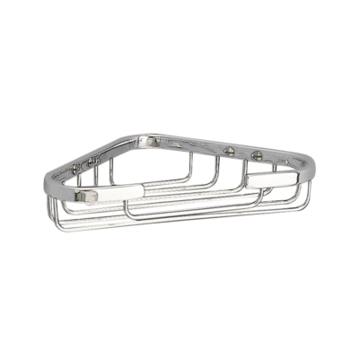 Miller Corner Soap Basket Chrome Plated 175mm X 115mm X 35mm 651C