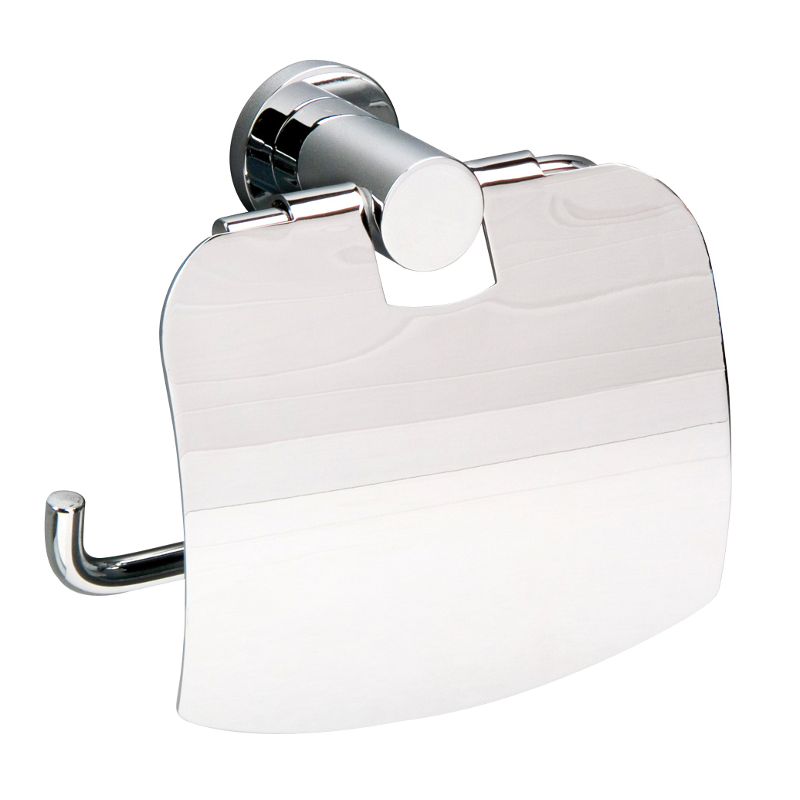 Montana Toilet Roll Holder and Lid Chrome 140mm x 125mm x 38mm 6707C