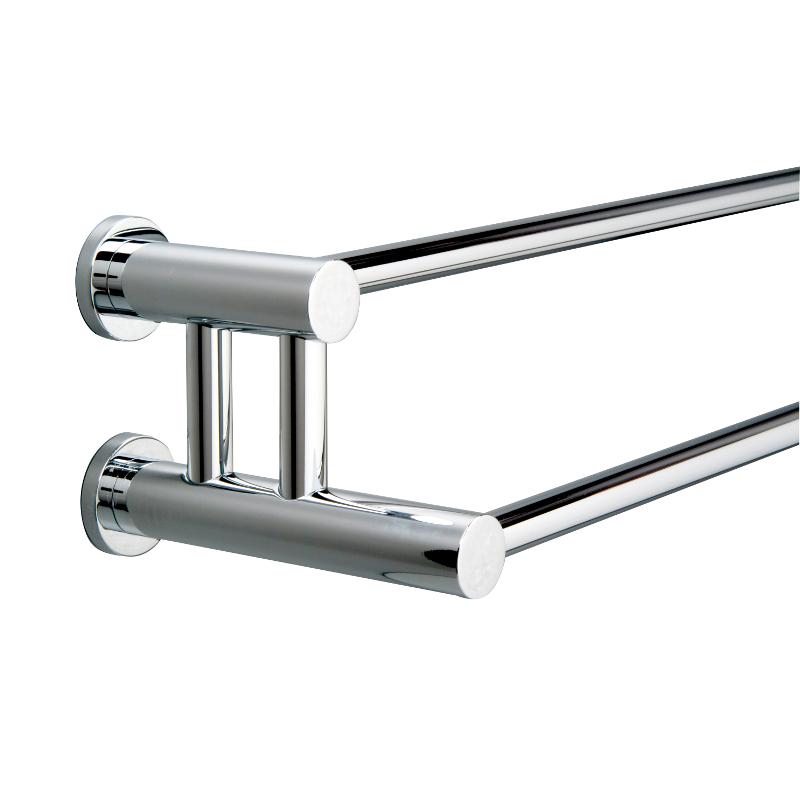 Montana Double Towel Rail 650 Chrome (miller) 650mm x 130mm x 38mm 6727C