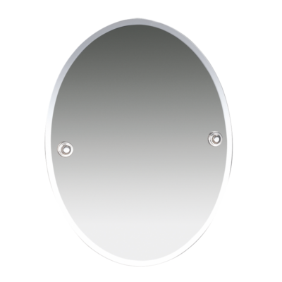 Oslo Oval Bevelled Mirror Chrome Plated 400mm x 505mm 8000C