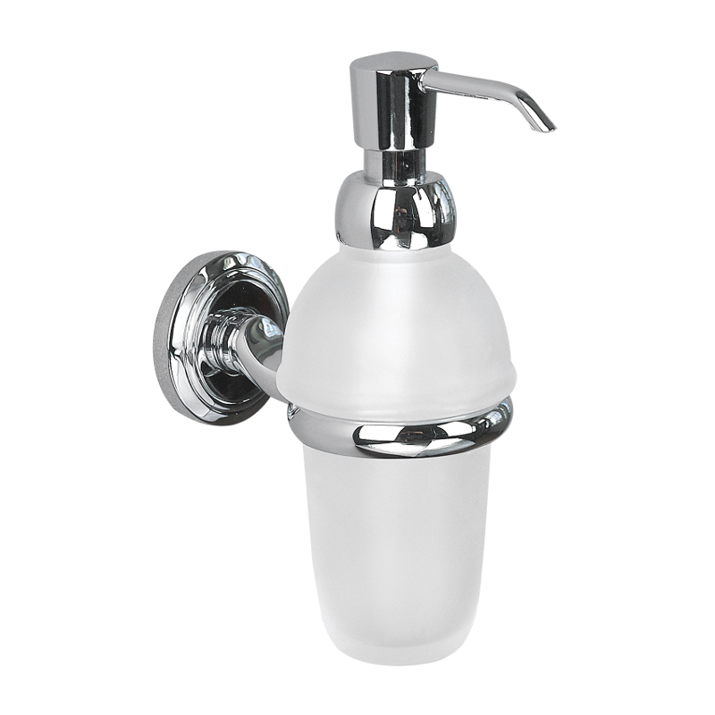 Oslo Lotion Bottle With Pump Chrome Plated 180mm x 115mm x 55mm 8034C
