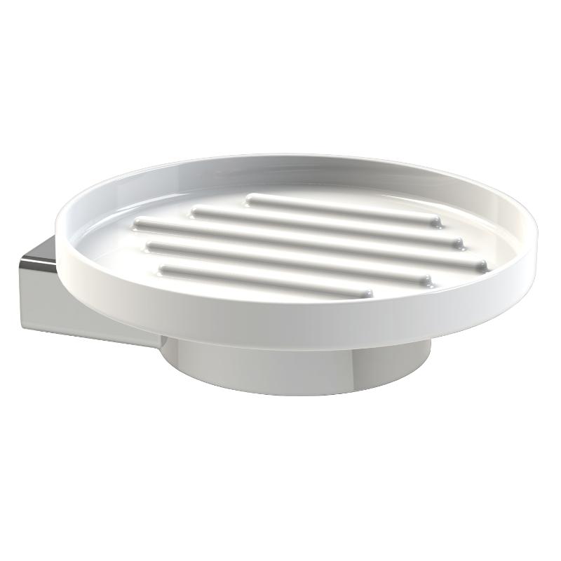 Orlando / Boston Soap Dish Chrome 125mm x 115mm x 105mm 8104C