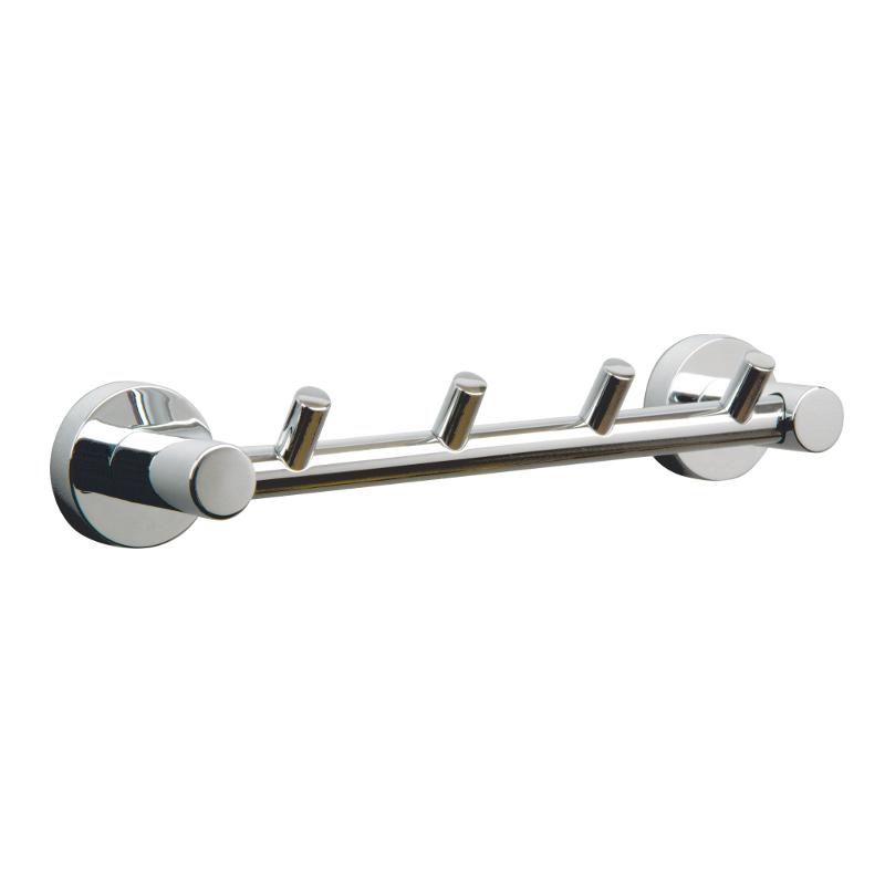 Miller Bond 4 Hook Rail Chrome 240mm x 45mm 8708C