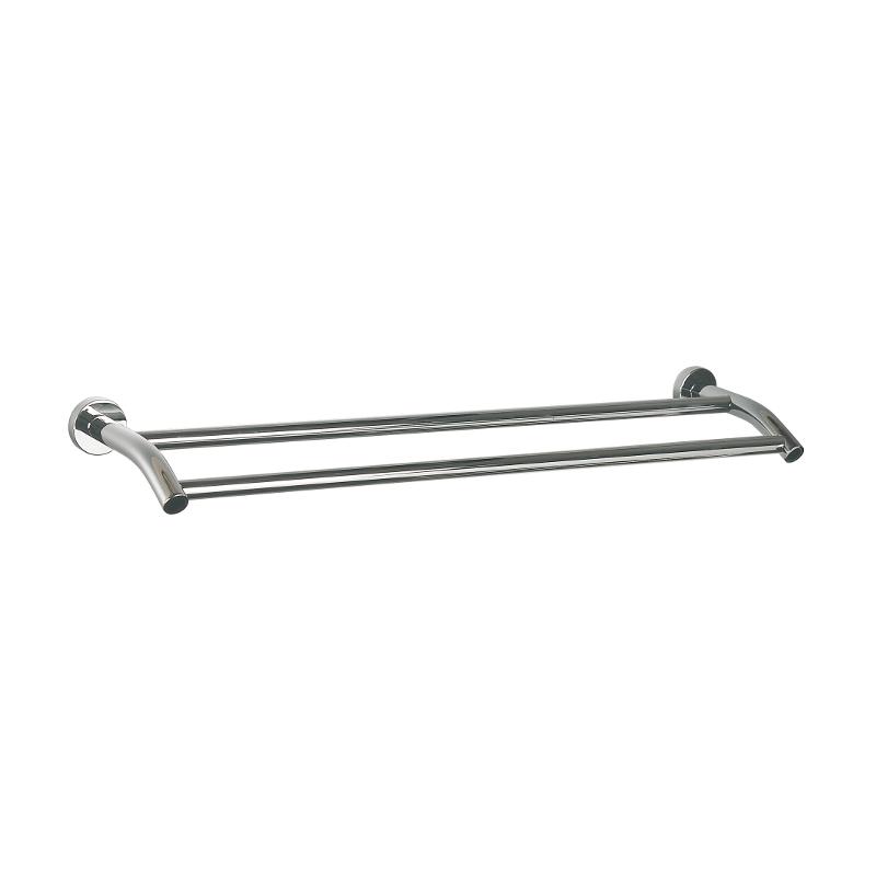 Miller Bond Double Towel Rail 650mm x 155mm x 45mm Chrome 8727C