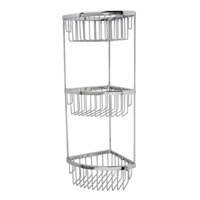 Classic Shower Caddy - Tiered Corner Basket Chrome 215mm x 540mm x 175mm 875C