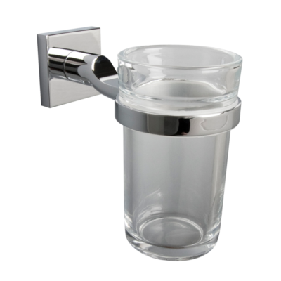 Miller Atlanta Tumbler and Holder Chrome 110mm x 125mm x 45mm 8803C
