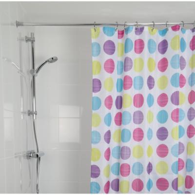 Croydex Textured Dots Shower Curtain 1800mm x 1800mm AF288115