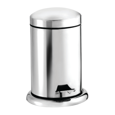 Croydex 3 Litre Pedal Bin - Stainless Steel Polish Finish AJ400041