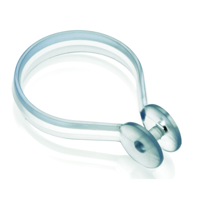 Croydex Shower Rings Packet (Button Clear) AK142232