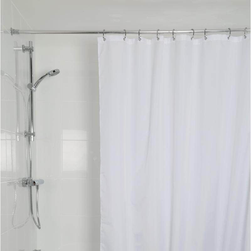 croydex high performance shower curtain white gp85107. Black Bedroom Furniture Sets. Home Design Ideas