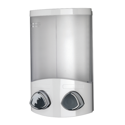 Euro Soap Dispenser Duo - White 200mm x 130mm x 80mm PA660622