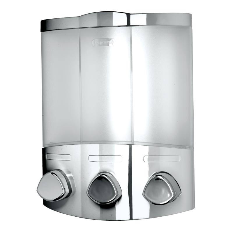 Croydex Euro Dispenser Trio Chrome Plated 230mm x 180mm x 100mm PA661041