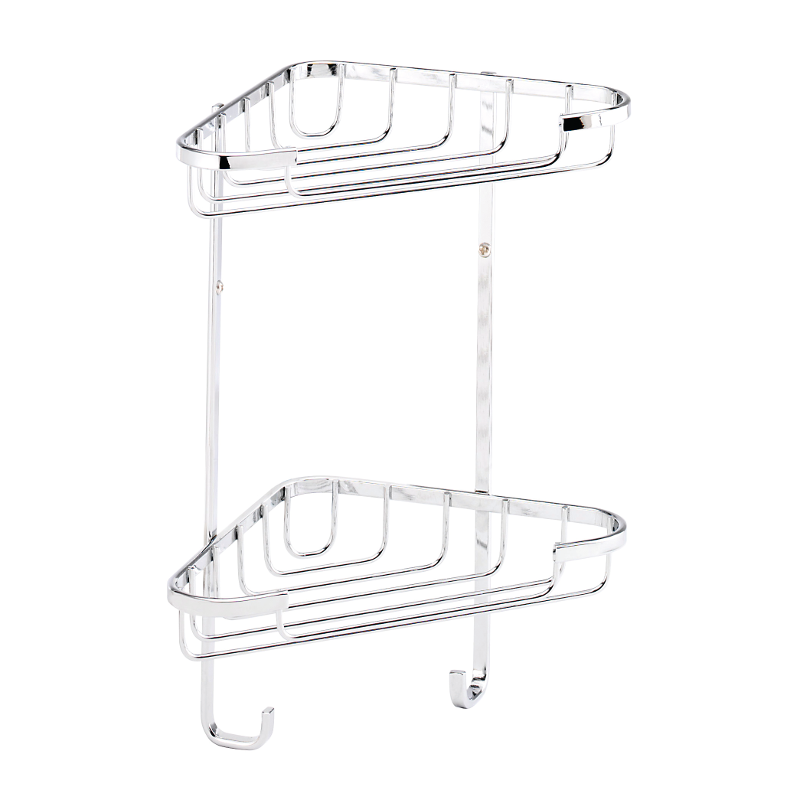 Croydex Stainless Steel Small 2 Tier Basket 285mm x 230mm x 135mm QM390841