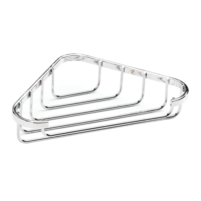 Croydex Corner Soap Dish Chrome Plated 40mm x 195mm x 120mm (HxWxD) QM390941