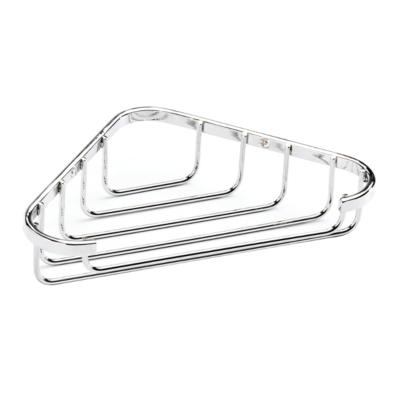 Croydex Corner Soap Dish Chrome Plated 40mm x 195mm x 120mm (HxWxD) QM390941