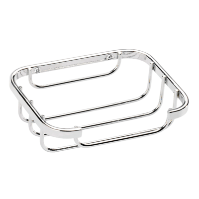 Croydex Stainless Steel Soap Dish Chrome Plated 35mm x 130mm x 100mm (HxWxD) QM391941