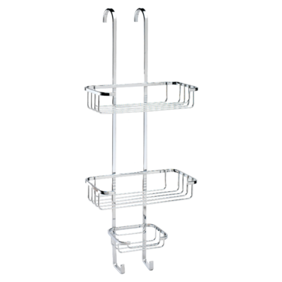 Croydex Over-Hook Three Tier Basket Chrome Plated 635mm x 250mm x 130mm (HxWxD) QM394341