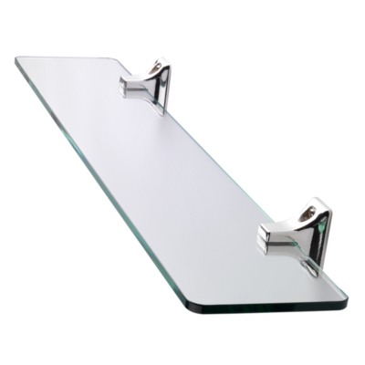 Sutton Glass Shelf Chrome Plated 50mm x 500mm x 115mm QM731441