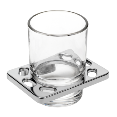 Sutton Tumbler & Holder Chrome Plated 95mm x 100mm x 80mm QM731841