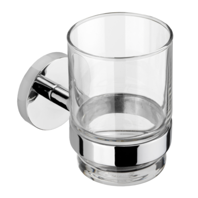 Croydex Romsey Tumbler & Holder Chrome Plated 95mm x 67mm x 105mm QM741841