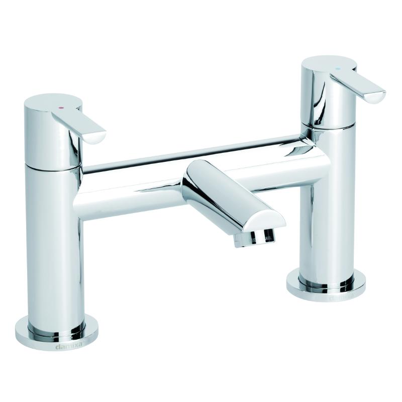 Damixa Iona Deck Bath Filler Two Handle Chrome TB130441