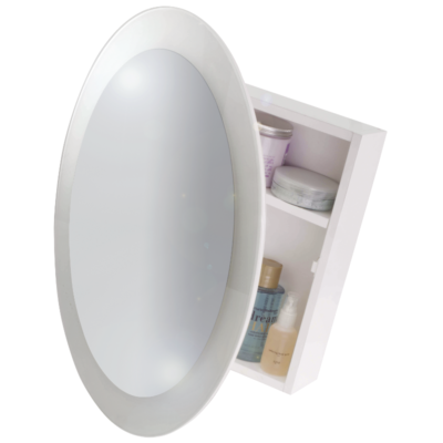 Croydex Saturn Mirror Cabinet White 525mm x 525mm x 105mm WC400422