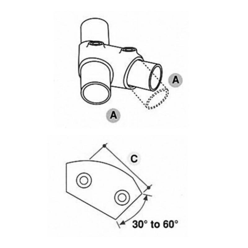Key Clamp adjustable tee