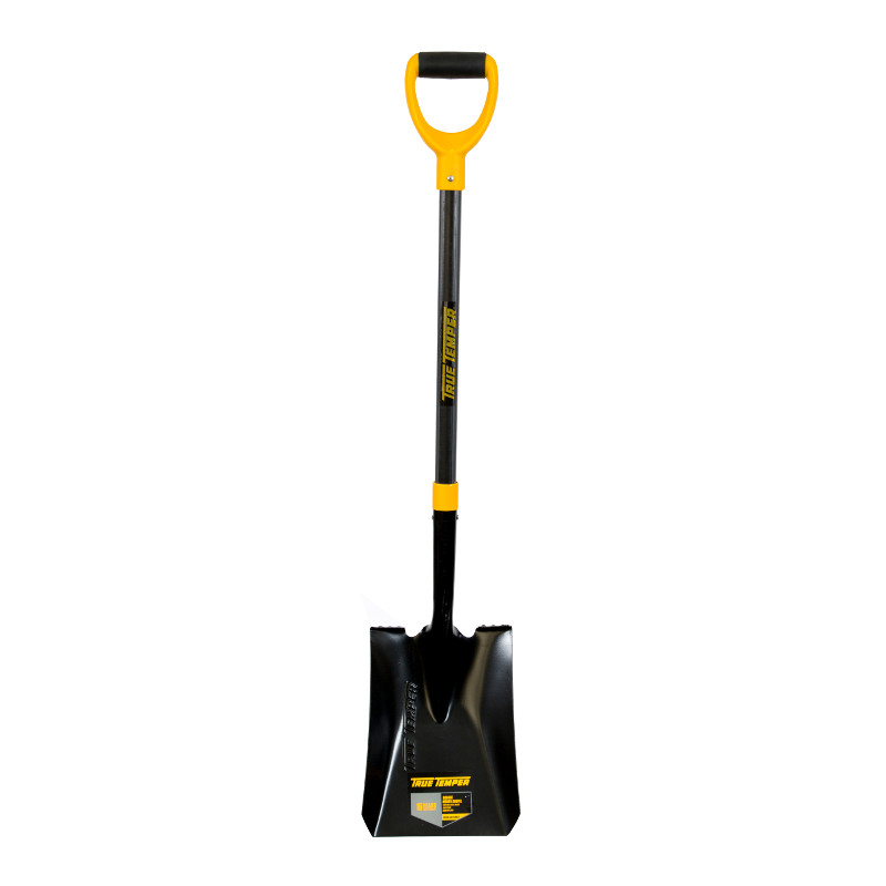 True Temper Square Mouth Shovel Fibreglass Handle D Grip
