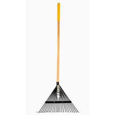 True Temper Flat Steel Leaf Rake 24 Teeth Wood Handle