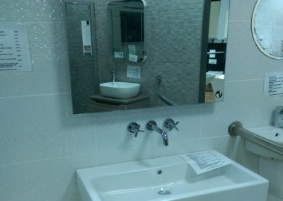 Vero 800 no Tap Hole Basin ith Loft Wall Mounted Tap and Utiopia Mirror