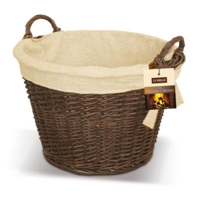 De Vielle Round Wicker Basket