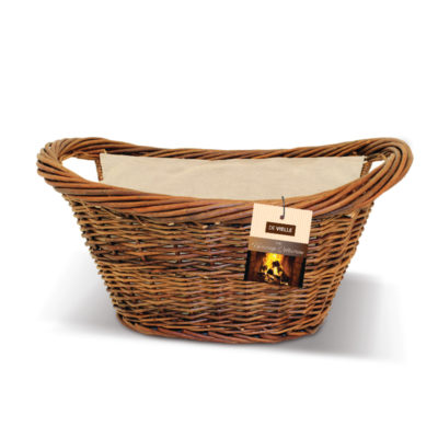 De Vielle jute lined wicker basket
