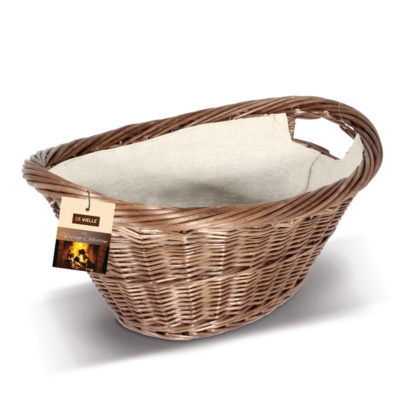 De Vielle Oval Natural Wicker Basket