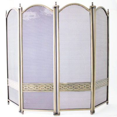 De Vielle 4 Fold Fire Screen
