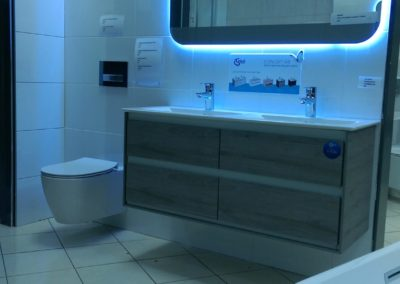 Ideal Standard Air Vanity Unit and Basin and Mirror with Aquablade Concept Wall Hung Pan and